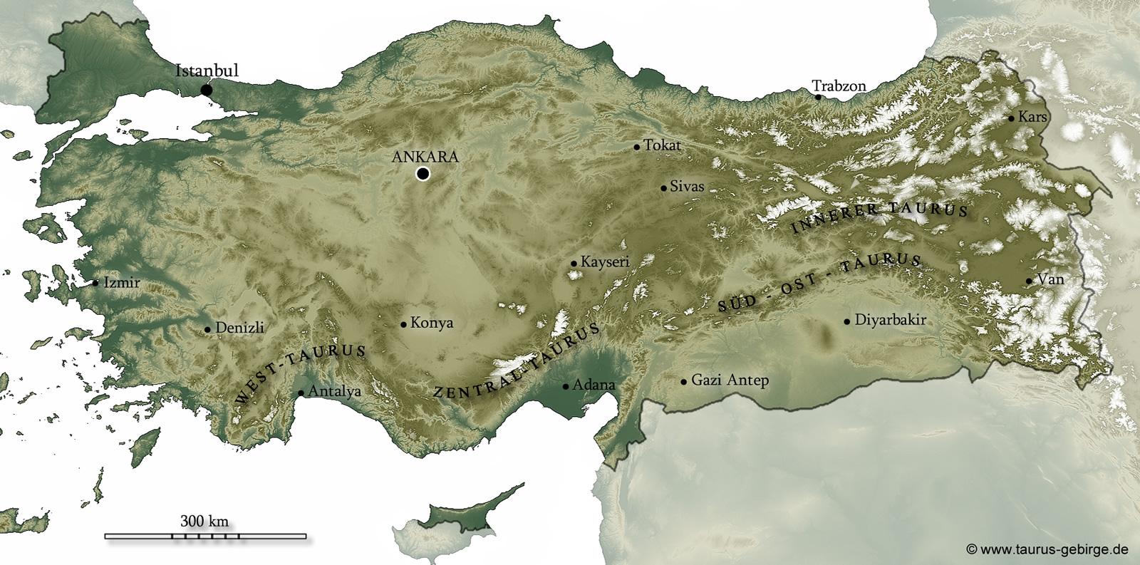 Kleinmaßstäbige Physische Karte