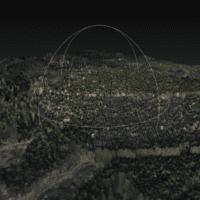 3D Modell eines Waldes